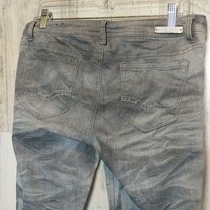 Almost Famous Jeans - ALMOST FAMOUS Gray Acid Wash Skinny Jeans 13